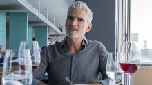 Soccer commentator and author of Fighting for Hakeem, Craig Foster, at lunch with AFR at Icebergs Dining Room, Bondi.