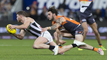 Collingwood's Taylor Adams is back on the sidelines after returning against GWS last weekend.