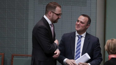 In agreement: Senator Andrew Bragg and Liberal MP Tim Wilson.