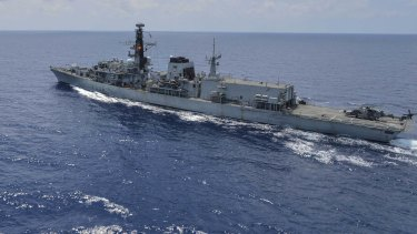 HMS Montrose in the Gulf of Thailand earlier this year.