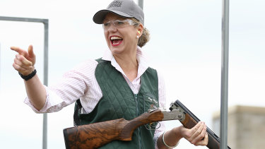 Nationals Senator Bridget McKenzie heads the Parliamentary Friends of Shooting group and is an avid sporting shooter.