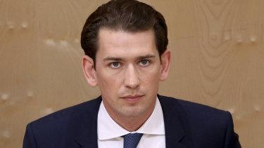 Ousted: Austrian Chancellor Sebastian Kurz.