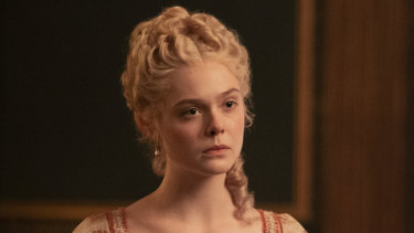 Elle Fanning in <i>The Great<i>.