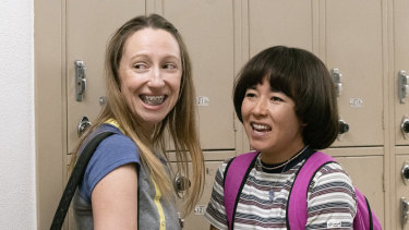 Anna Kone (Anna Konkle) and Maya Ishii-Peters (Maya Erskine) in the second season of <i>Pen15</i>.