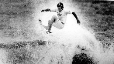 No surfer forgets Shane Herrings' feat in the Cole Classic at North Narrabeen in 1992.