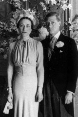 In happier wedding times: The Duke and Duchess of Windsor pose after their wedding at the Chateau de Cande near Tours, France, in 1937.