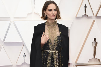 Natalie Portman on the red carpet at the Oscars.
