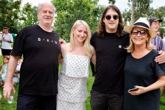 The Gudinski family: Michael, Kate, Matt and Sue.  Matt has picked up the reins of the Mushroom empire since Friday.