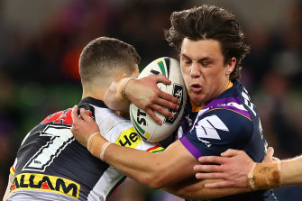 Another blow: Scott Drinkwater left the Storm in a bid to re-establish himself as a first-choice NRL fullback, but his hopes have been hit by the arrival of Valentine Holmes at the Cowboys.