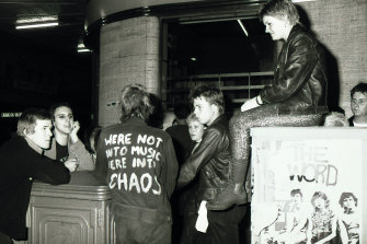 "Revellers outside the Civic Hotel in 1980. The pub was hit with a ""rock & roll"" ban in 1989, which has now been lifted."