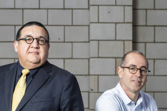 Hostplus chief investment officer Sam Sicilia with Square Peg venture capital firm founder Paul Bassat.