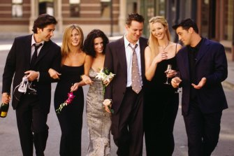 Where it all began; the cast of Friends.