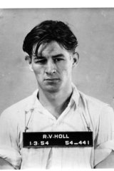 1954 mugshot of Ronald Vincent Holl, suspect in the Olaf Perkman killing
