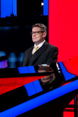 Matt Parkinson on the set of The Chase.