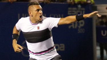Nick Kyrgios beat John Isner in three sets in the semi-final.