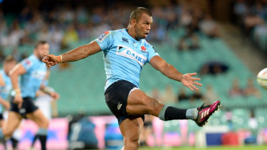 Kurtley Beale will have to bide his time off the bench against the Blues in Auckland.