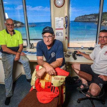 Port Campbell Surf Lifesaving Club members David McKenzie, Phillip Younis and Scott McKenzie.