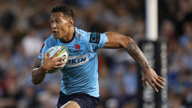 Surprise: Israel Folau was shocked to learn his contract was in jeopardy following his latest social media outburst.