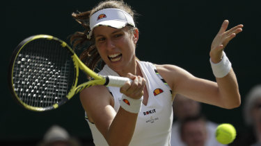 Johanna Konta was eliminated by Barbora Strycova.