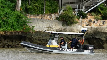 Water police scoured the Brisbane River near the UQ St Lucia boat ramp before the man's body was found. (File image)