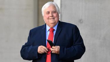 Billionaire businessman Clive Palmer.