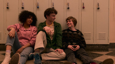 Sophia Lillis, right, is brilliant as an awkward 17-year-old named Sydney in I Am Not Okay with This.