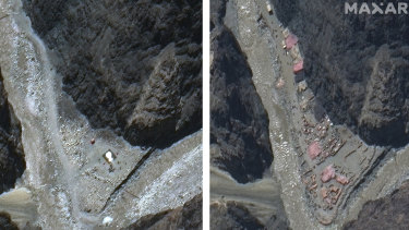 Images taken on May 22 and June 23 this year show construction in the Galwan River Valley near the disputed border known as the Line of Actual Control between India and China.
