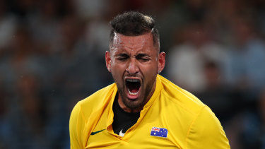 Kyrgios played with passion during the ATP Cup.