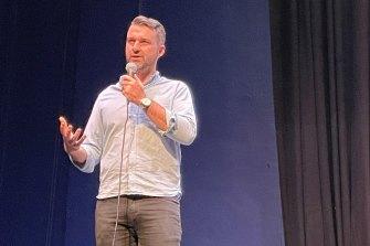 Chris Howlett speaks at Melbourne Digital Concert Hall's first birthday.