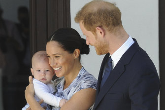 Meghan, Duchess of Sussex with Prince Harry and their son Archie.