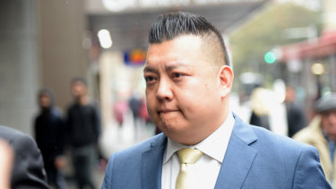 NSW Labor's community relations director Kenrick Cheah arrives at the NSW Independent Commission Against Corruption.