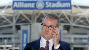 Opposition Leader Michael Daley has campaigned strongly against the Berejiklian government's stadiums policy.