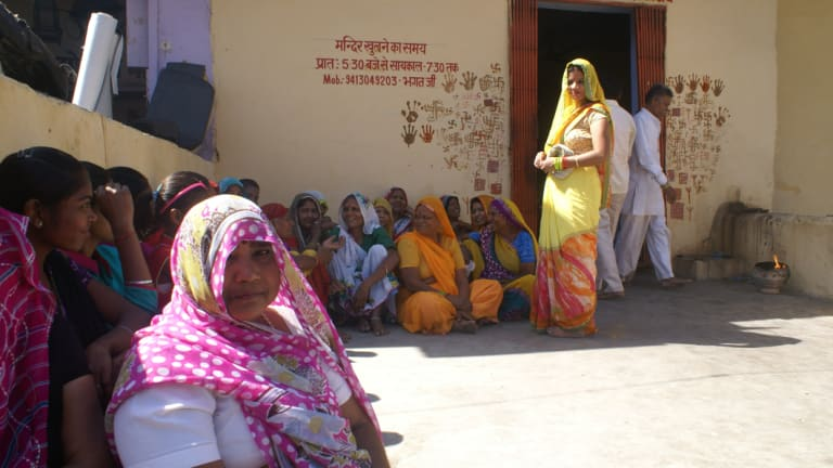 Rural women in Alwar, Rajasthan. Devi Sharma (the woman at the front) has never heard of #MeToo.