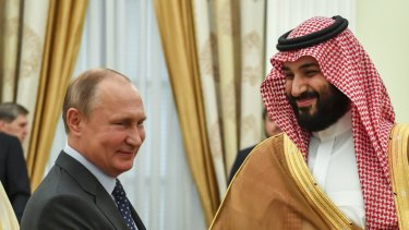 Strongmen have alternatives in the Middle East: Russian President Vladimir Putin, shakes hands with Saudi Arabian Crown Prince Mohammed bin Salman during their meeting in Moscow in June.