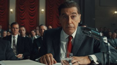 Al Pacino as Jimmy Hoffa: working with Robert De Niro, he says, ''takes the edge off. And puts the other edge on.""