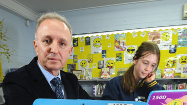 Philip Cachia, the principal of Our Lady Help of Christians School in Brunswick East, said he was not feeling confident about the online test after his students experienced technical glitches.