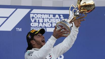 Hamilton wins Russia GP in Mercedes one-two, Ricciardo fails to finish