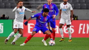 Leandro pulled off the winner for FC Tokyo against Perth Glory in the AFC Champions League at Ajinomoto Stadium on Tuesday night.