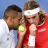Nick Kyrgios and Stefanos Tsitsipas.
