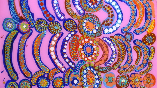 Mix colors by Dorothy Tjikilim Forrest.