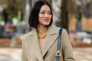 MyTheresa fashion buyer Tiffany Hsu models the trend in Paris.