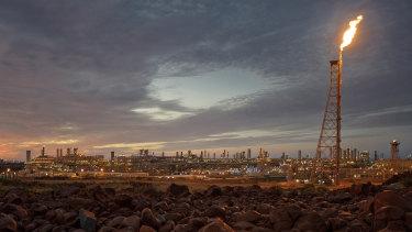 Woodside's Karratha gas plant in Western Australia.