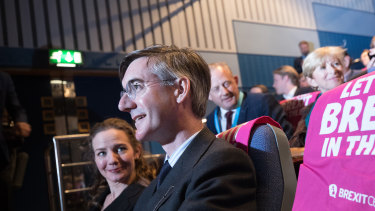 Conservative MP Jacob Rees-Mogg at the Conservative Party annual conference.