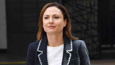 Anna Palmer, the wife of Clive Palmer, is giving evidence at the public examination into the collapse of Queensland Nickel in 2016.