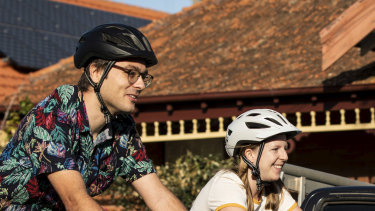 Melissa Ridgley and Patrick Nalepka are cycling all over Sydney together thanks to the car-less roads.