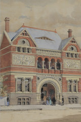 Victorian Artists Society building 1892 by William Tibbits, loaned by Andrew Mackenzie.