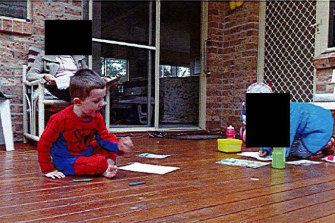 William Tyrrell on the morning he went missing.