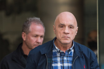 Pasquale Lanciana, pictured outside the County Court, has been found guilty of armed robbery and other charges.
