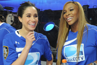 Meghan, Duchess of Sussex (left) and Serena Williams in the early days of their friendship in 2014.