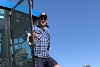 Richmond's Liam Baker on the family farm in Pingaring, WA.